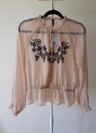 Рубашка блуза hm полупрозрачная