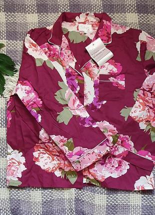 Хлопковая шикарная пижама в актуальный цветочный принт!