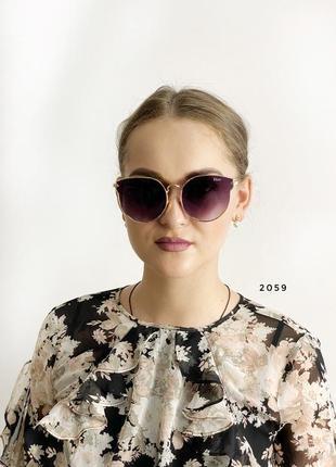 Модні сонцезахисні окуляри, чорні к. 2059