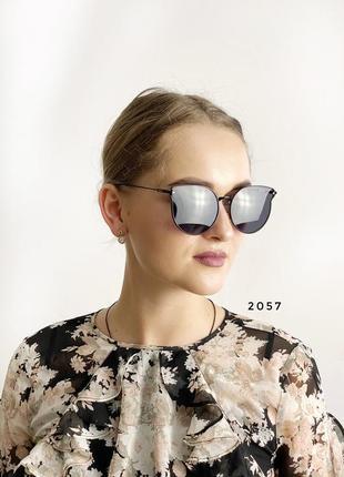Солнцезащитные очки, цвет линз и оправы черный к. 2057