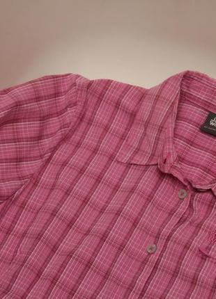 Jack wolfskin рр l треккинговая рубашка из быстро сохнущего полиестера