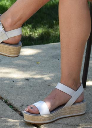 Кожаные босоножки timberland santorini sun ankle strap sandals