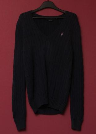 Polo ralph lauren рр m свитер фигурного плетения из хлопка