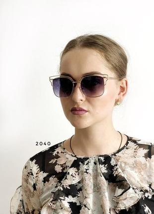 Сонцезахисні окуляри, колір лінз чорний к. 2040