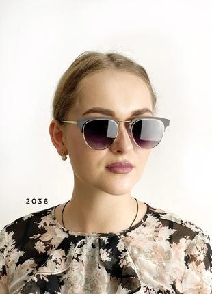 Сонцезахисні окуляри, колір чорний к. 2036