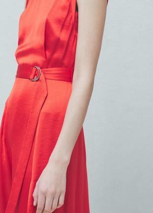 Нарядное яркое платье mango