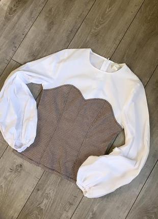 Рубашка с воланами h&m
