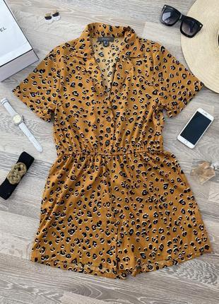 На жару!!! комбинезон шорты леопард