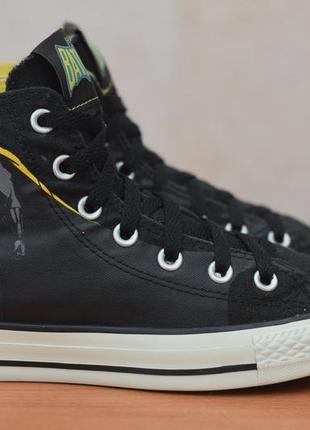 Черные высокие кеды, кроссовки converse all star, 37.5 размер. оригинал