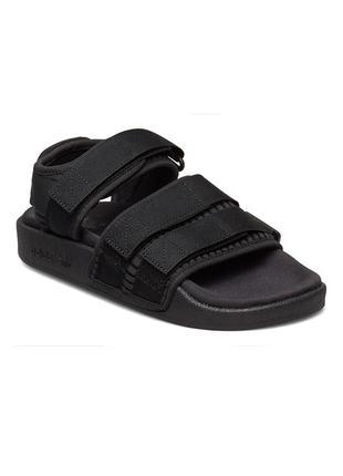 Босоножки женские adidas adilette 2.0 сеточка черные / босоніжки сандалии сандалі адидас адідас