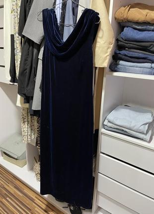 Бархатное велюровое платье