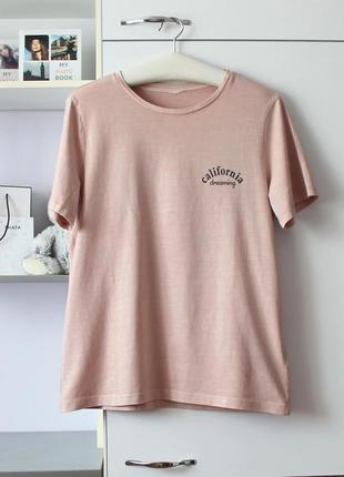Плотная хлопковая оверсайз футболка от h&m