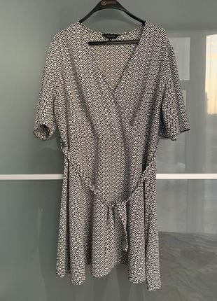 Легкое летнее платье с поясом new look1 фото