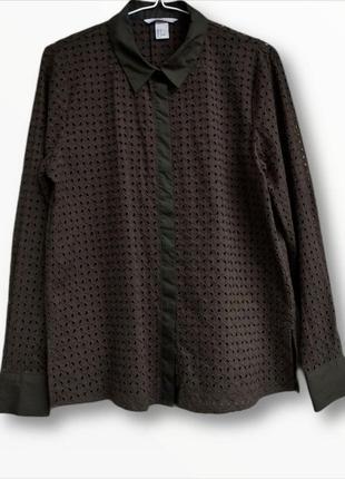 Рубашка прошва из натуральной ткани h&m
