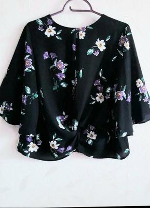 Нарядная летняя блуза оригинального дизайна, 48-50, полиэстер,  primark