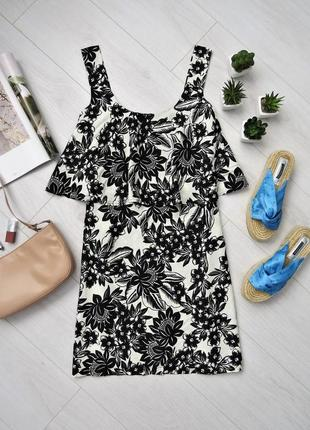 Летний сарафан платье с воланом