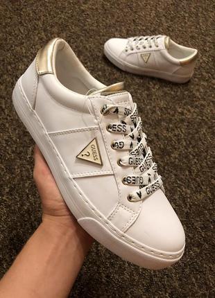 Белые кеды кроссовки guess 37 и 39 размера