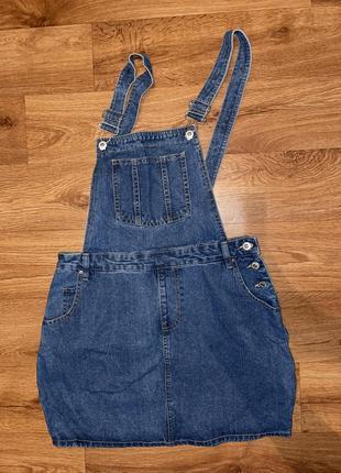 Супер джинсовые сарафан платье комбинезон