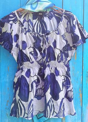 Новая батистовая блуза,44-48разм,индия,h&m