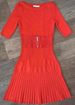 Англия! женское фирменное шерстяное платье- миди karen millen.