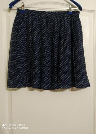 Плиссированная юбка mango горох, l