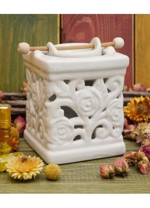 Аромалампа керамическая колодец с розами