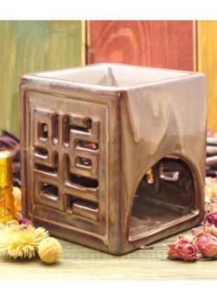 Аромалампа керамическая куб