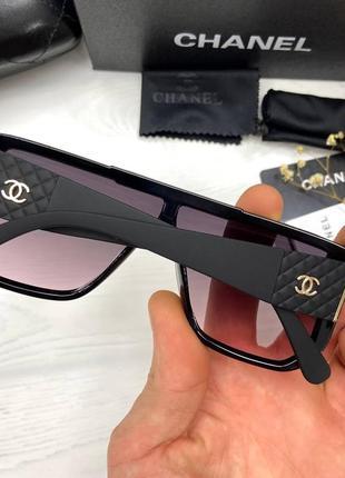 Женские солнцезащитные очки в стиле шанель