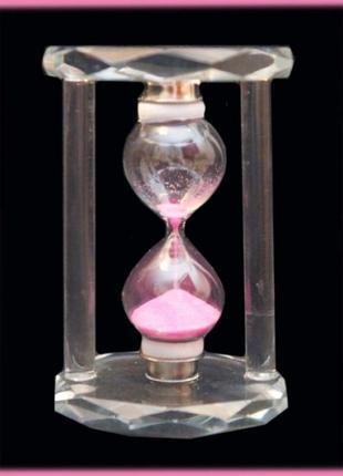 Песочные часы в стеклянном прозрачном корпусе