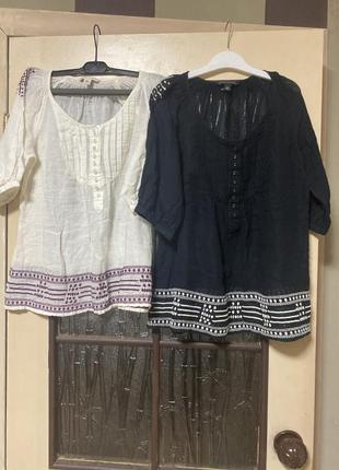 Блузка-вышиваний летняя марлёвка индия 🇮🇳  s