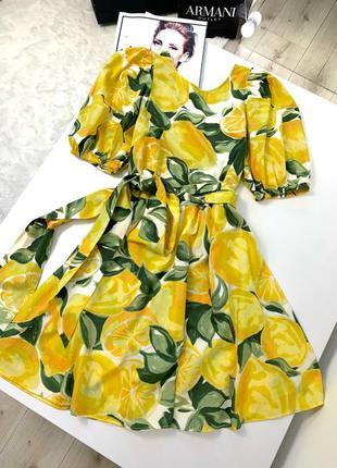Платье zara под пояс