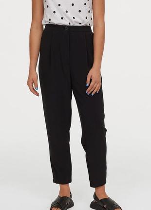 Базовые широкие штаны брюки свободного кроя высокая талия от h&m