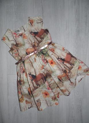 Платье с лошадками next 2-3г