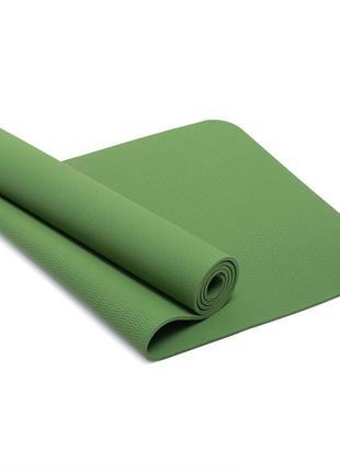 Мат для фитнеса tpe 173 х 61 х 0.8 см (r17821) разные цвета