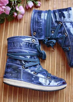 Мембранные термо  ботинки , полу сапожки  moon boot 35-36р италия эвро зима