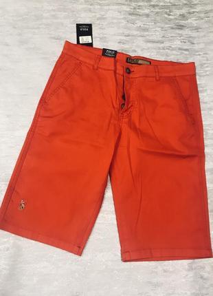 Новые стрейчевые коралловые шорты polo ralph lauren