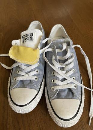 Светло -джинсовые converse кеды all star