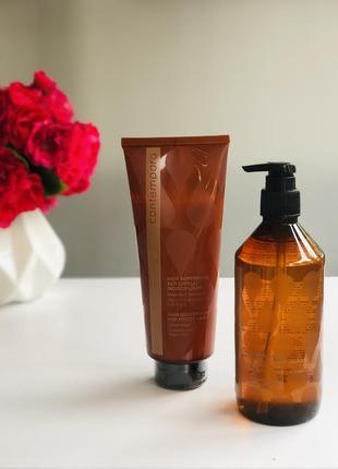 Набір шампунь та маска для неслухняного та кучерявого волосся barex italiana contempora velvet