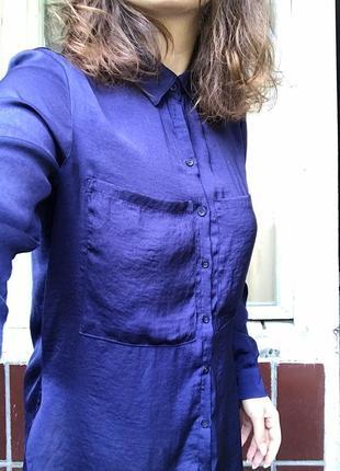Шелковая сатиновая блуза