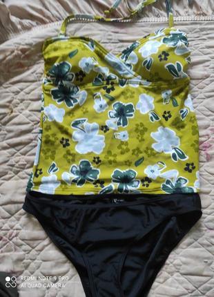 Супер стильный купальник танкини майка плавки в бассейн или пляж