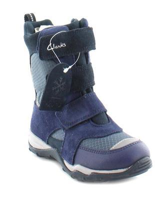 Зимние сапоги clarks р. 25. 5 gore-tex, сноубутсы на липучках,ботинки,термосапоги