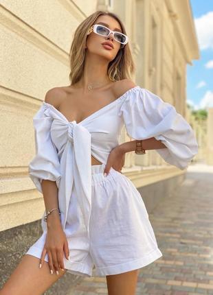 Костюм шорты + блуза