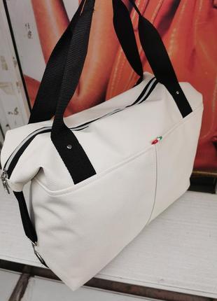 Сумка женская спортивная сумка для фитнеса в спортзал черная сумка ручная кладь жіноча сумка