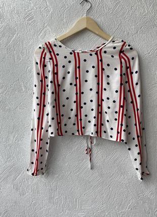 Крута блуза з відкритою спиною zara