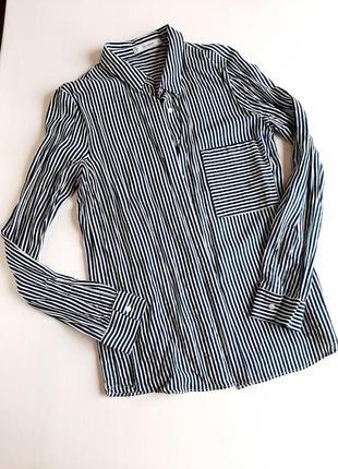 Рубашка с длиным рукавом с вискозы