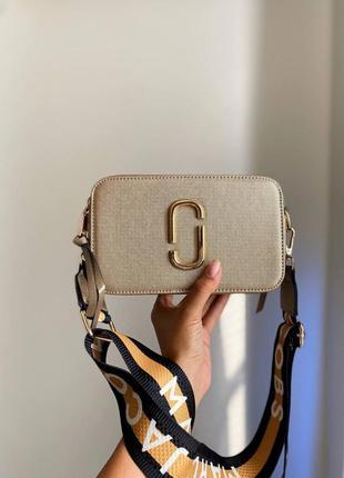 ❤ женская золотистая сумка сумочка marc jacobs gold yellow ❤