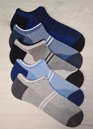 Летние мужские короткие носки сетка