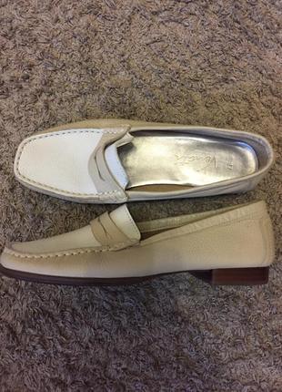 Кожаные туфли лоферы мокасины натуральная кожа