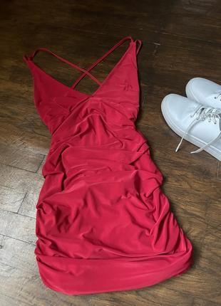 Красное вечернее платье/ сукня