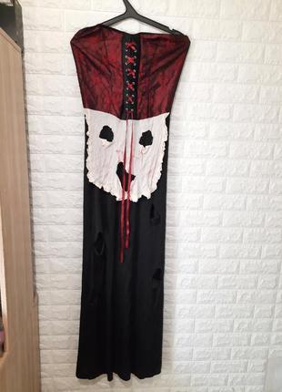 Платье пиратка, разбойница, ведьма, хеллоуин, аниматоры